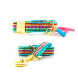 Set of Collar & leash 'Ashram' - size M