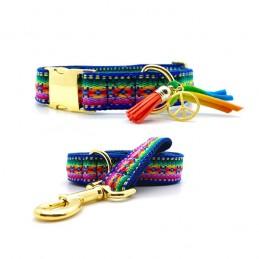 Set of Collar & leash 'Formentera' - size L