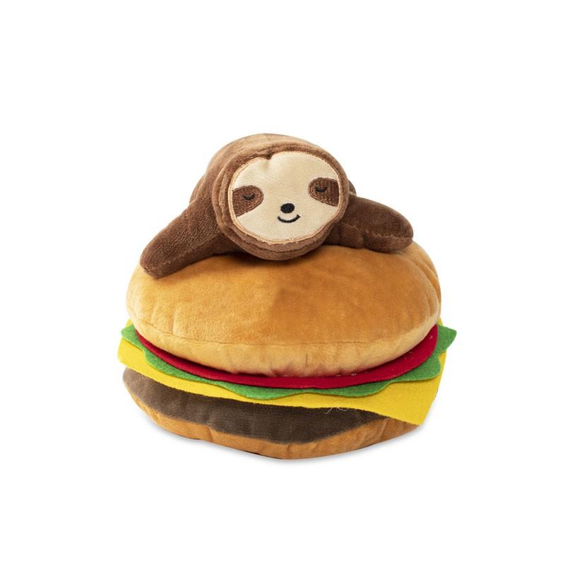 PetShop by Fringe Studio - Sloth on a Hamburger | Wholesale Dog Toys
