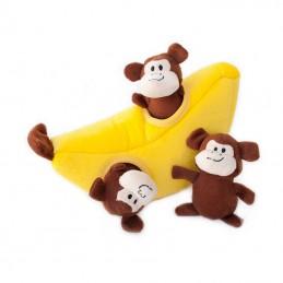 Zippy Burrow - Monkey 'n Banana   ZippyPaws Groothandel   Hondenspeeltjes