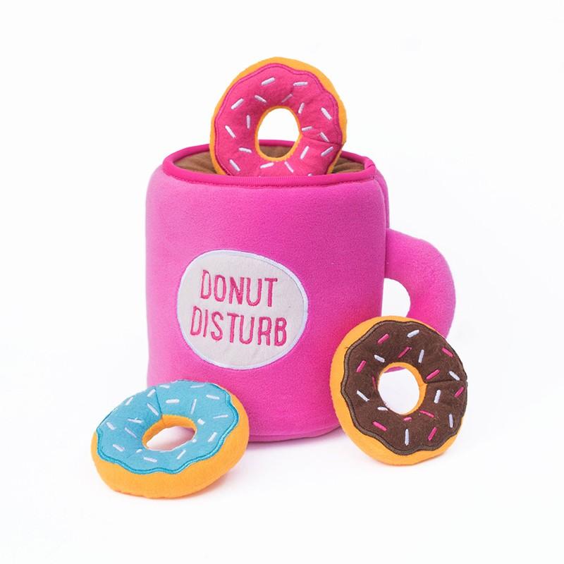 Zippy Burrow - Coffee and Donutz   ZippyPaws Wholesale   Dog Toys