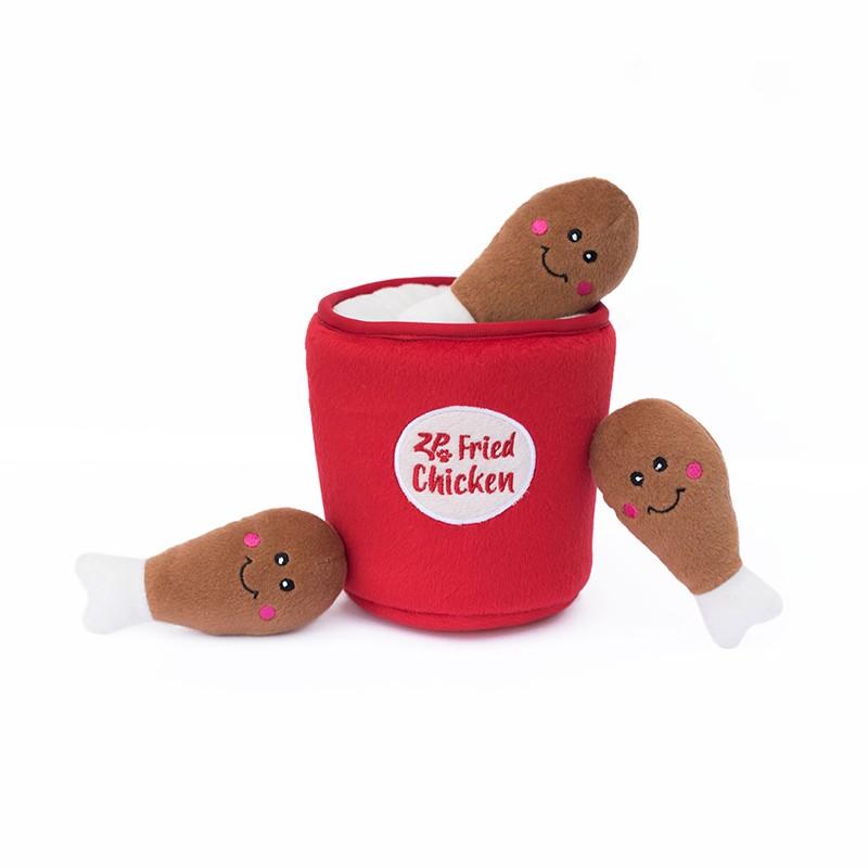 Zippy Burrow - Bucket of Chicken | ZippyPaws Wholesale | Dog Toys