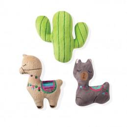 PetShop by Fringe Studio - set Llama cactus   Wholesale Dog Toys