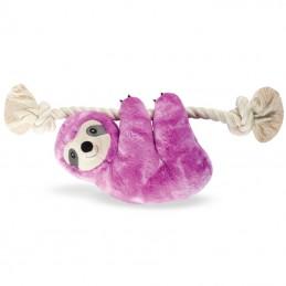 PetShop by Fringe Studio - Purple Sloth on a rope | Wholesale Dog Toys