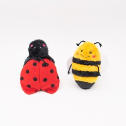 Crinkle 2-Pack Bee and Ladybug